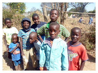 Picture of children in Zambia, Africa